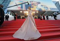 """71st Cannes Film Festival - Screening of the film """"Ash Is Purest White"""" (Jiang hu er nv) in competition - Red Carpet Arrivals - Cannes, France, May 11, 2018 - Bella Hadid arrives"""
