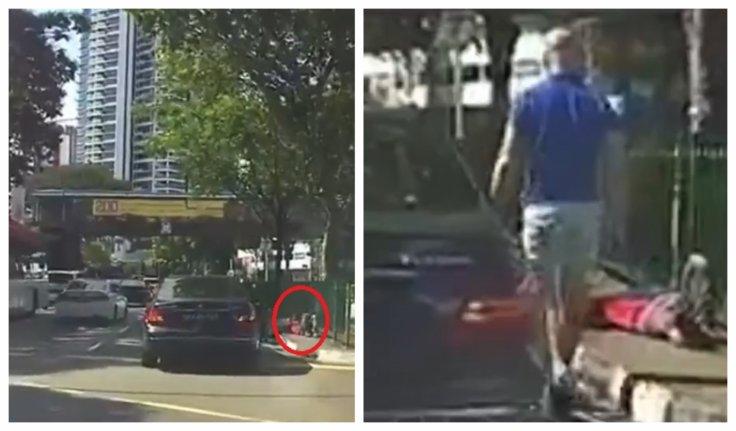 Jaywalker hit by car