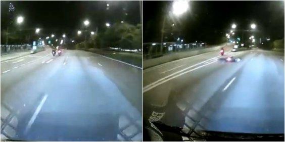 Singapore bike accident