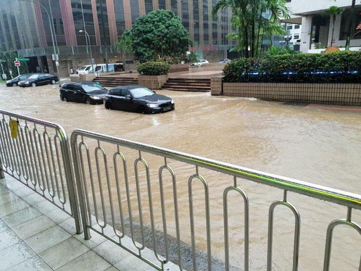 Singapore flash flood