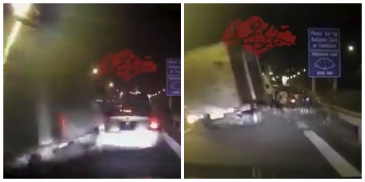 Lorry hits car at BKE