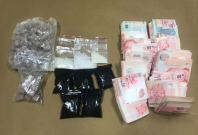 Some of the drugs seized in CNB operation at Balestier on 30 May 2018.