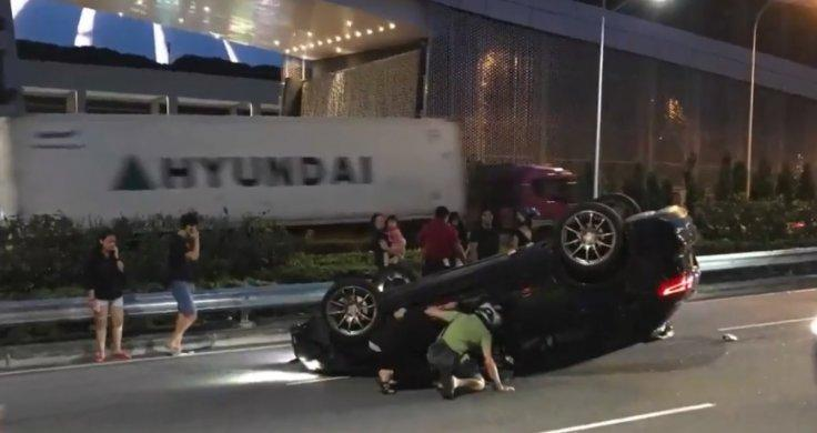 Singapore car accident