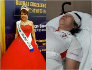 Singapore beauty queen injured after accident
