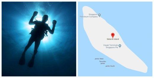 Diver's dead body