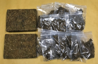 Cannabis seized in CNB operation on 11 July 2018.