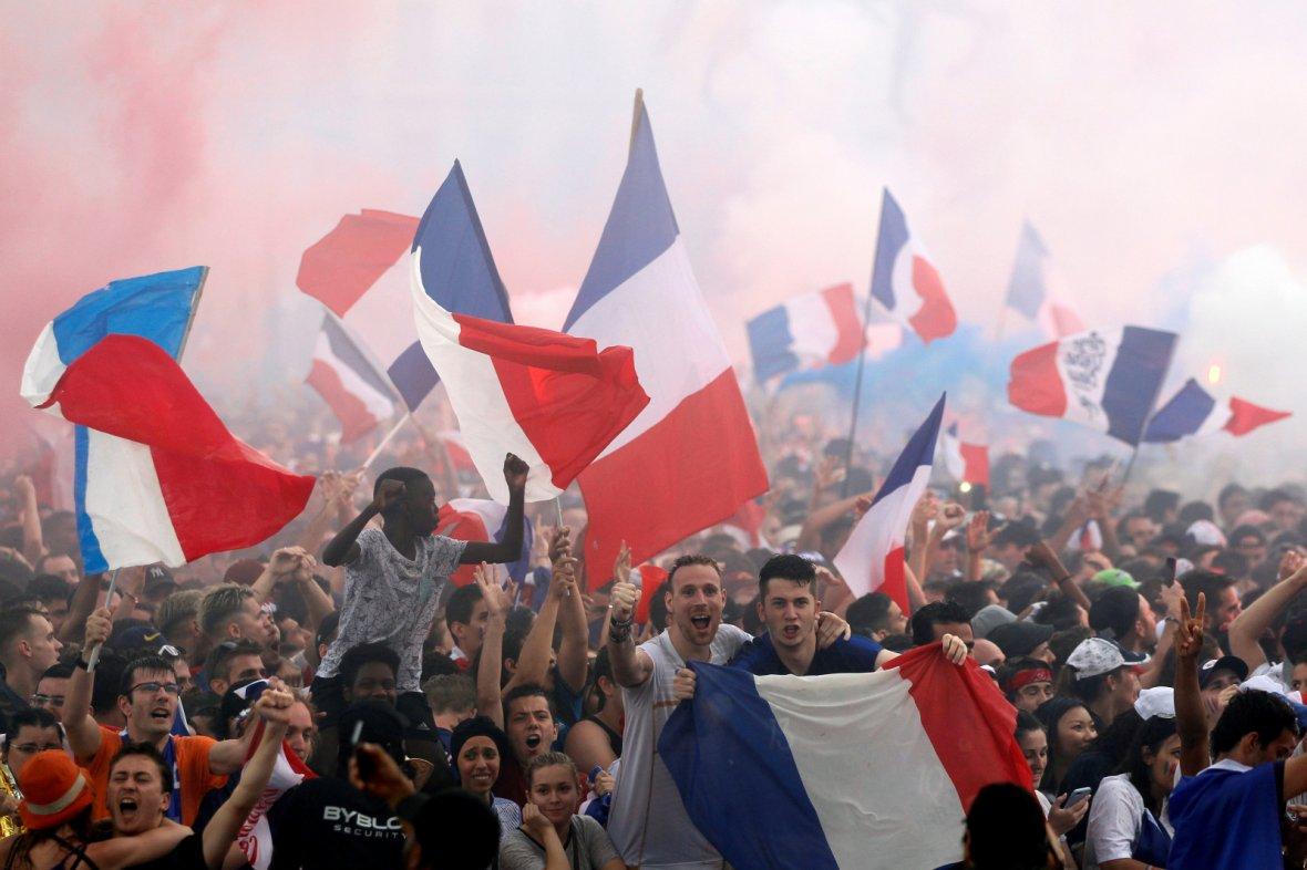 France fans react
