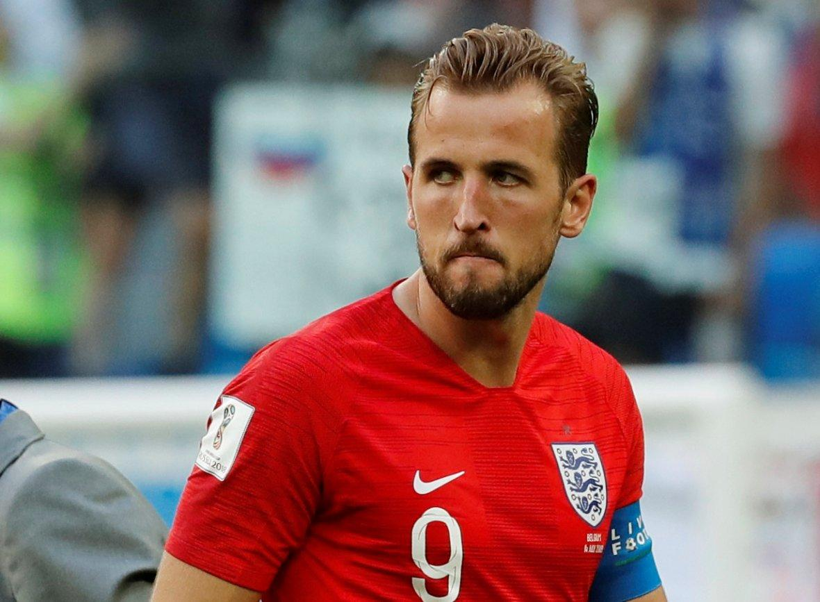 Golden Boot winner England's Harry Kane after defeat by Belgium