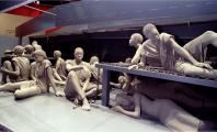 Life-size sculptures of enslaved Africans are part of a 70-foot replica of a slave ship featured in the core exhibit at Detroit's new Museum of African American History. The slave ship with 50 figures is a silent commemoration of Africans who lost their l