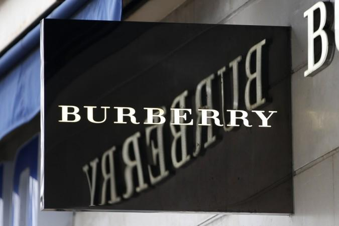 The logo of Burberry outlet store is seen in Paris, France, March 10, 2016.