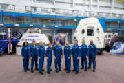 NASA introduced to the world on Aug. 3, 2018, the first U.S. astronauts who will fly on American-made, commercial spacecraft to and from the International Space Station – an endeavor that will return astronaut launches to U.S. soil for the first time sinc