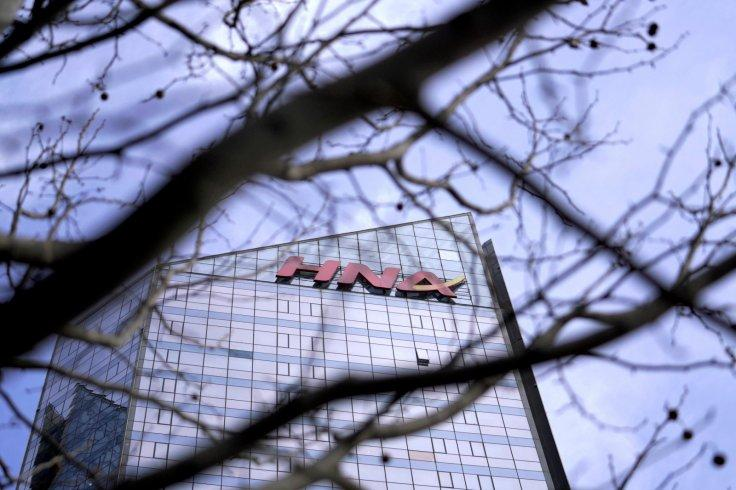 An HNA Group logo is seen on the building of HNA Plaza in Beijing, China February 9, 2018.