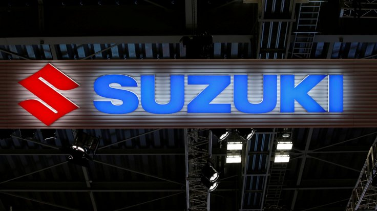 The logo of Suzuki Motor Corp. is pictured at the 45th Tokyo Motor Show in Tokyo, Japan October 25, 2017.