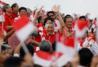 Singapore's Prime Minister Lee Hsien Loong arrives for the National Day parade along Marina Bay in Singapore August 9, 2018