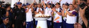 2018 Asiad torch proceeds to destination