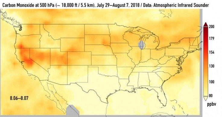 Carbon Monoxide levels August 6- 7