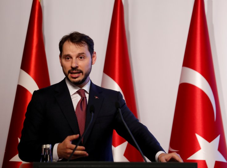 Turkish Treasury and Finance Minister Berat Albayrak speaks during a presentation to announce his economic policy in Istanbul, Turkey August 10, 2018.