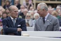 Prince Philip and Prince Charles