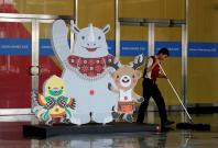 Asian Games official mascots Bhin Bhin, Atung and Kaka