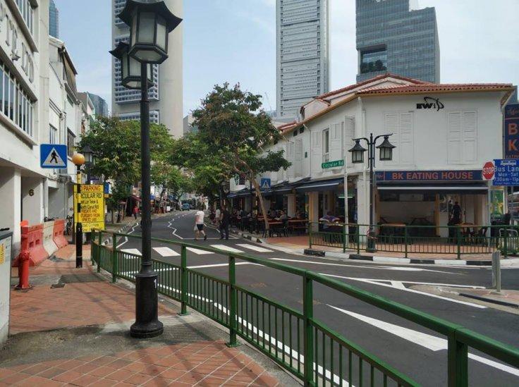 Circular Road's zebra crossing