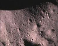 This handout picture provided by the Indian Space Research Organisation (ISRO) shows the surface of the moon taken by Moon Impact Probe (MIP), after separating from India's Chandrayaan-1 spacecraft, November 14, 2008. A lunar probe from India's first unma