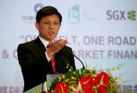 Singapore's Minister Chan Chun Sing speaks before a MOU signing ceremony between Singapore Exchange Limited (SGX) and China Construction Bank Corp (CCB) in Singapore April 25, 2016.