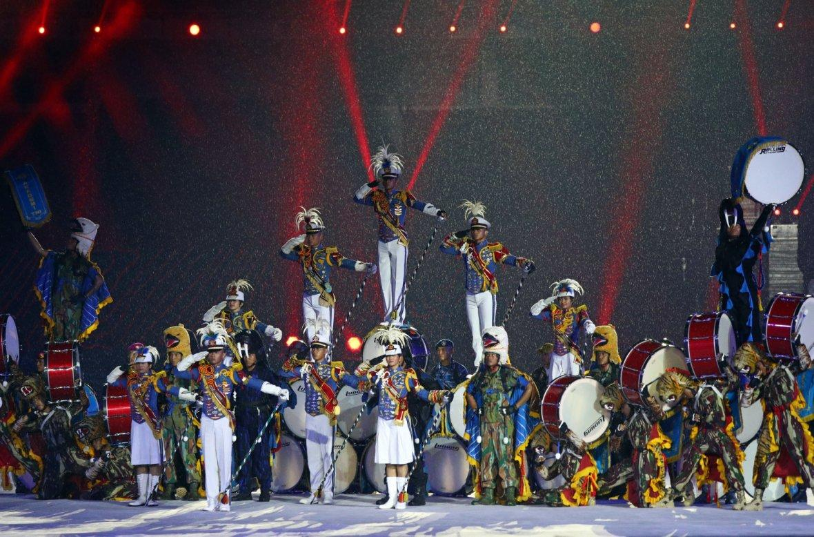 2018 Asian Games - Closing Ceremony - GBK Main Stadium - Jakarta, Indonesia - September 2, 2018 - Artists perform during the closing ceremony.