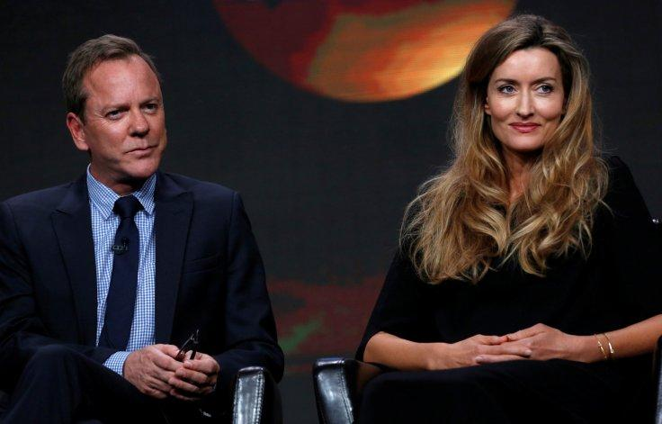 """Cast members Kiefer Sutherland and Natascha McElhone attend a panel for the television series """"Designated Survivor"""""""