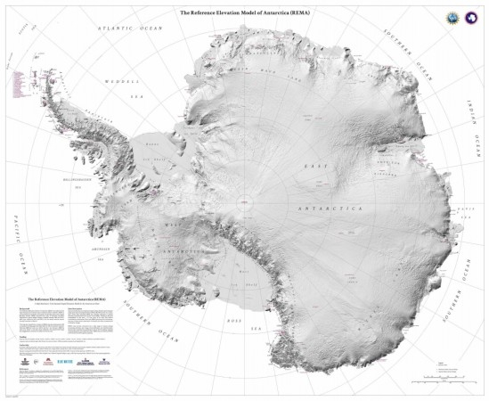 Antarctica has the most highly detailed map of any part of the world