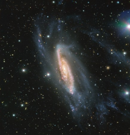 FORS2, an instrument mounted on ESO's Very Large Telescope captured the spiral galaxy NGC 3981 in all its glory. The image, captured during the ESO Cosmic Gems Programme, showcases the beauty of the southern skies when conditions don't allow scientific ob