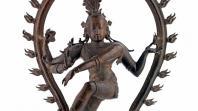 Dancing Shiva statue.