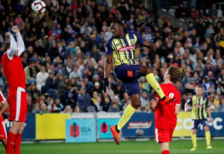 Central Coast Mariners v Central Coast Select - Central Coast Stadium, Gosford, Australia - August 31, 2018 Central Coast Mariners' Usain Bolt in action