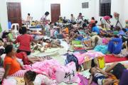 People are seen inside an evacuation centre in preparation for Typhoon Mangkhut in Cagayan, Philippines, in this September 13, 2018 photo by LGU Gonzaga Cagayan from social media. LGU Gonzaga Cagayan/Social Media/via REUTERS