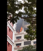 Fire incident in Tampines