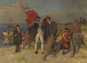 Landing of Captain Cook at Botany Bay, 1770
