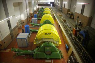 Turbines are seen in the power plant Limberg of Austrian hydropower producer Verbund near Kaprun, Austria,