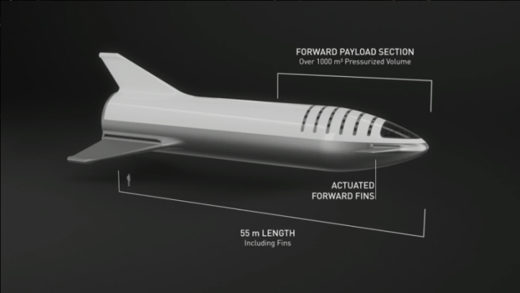 Updated payload specs for the BFR- human to scale