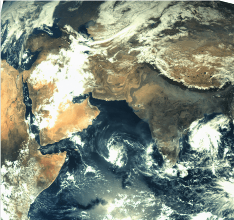 Soon after launch and once the satellite was separated from its core stage, ISRO turned MOM around for a picture of Earth. This is the first image captured using the MCC