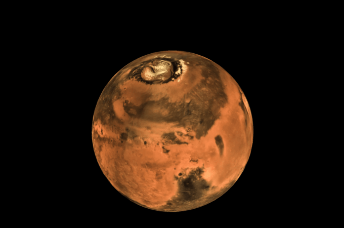 Mars global mosaic shot by the MCC