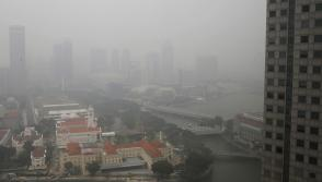 Singapore detects 'haze' smell in some parts, 24-hour PSI reaches moderate level