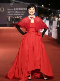 Taiwanese actress Brigitte Lin poses for photographers on the red carpet at the 50th Golden Horse Film Awards in Taipei November 23, 2013. REUTERS/Patrick Lin