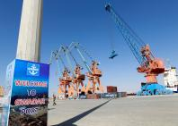 A general view of the port before the inauguration of the China-Pakistan Economic Corridor port in Gwadar, Pakistan