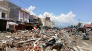 Debris is seen after an earthquake in Palu
