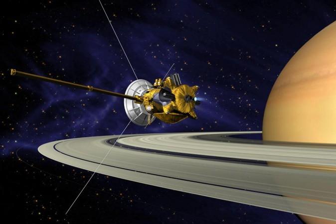 Artist's Conception of Cassini Saturn Orbit Insertion