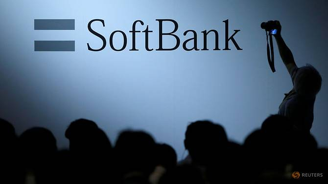 The logo of SoftBank Group Corp is displayed at SoftBank World 2017 conference in Tokyo, Japan, July 20, 2017. REUTERS/Issei Kato