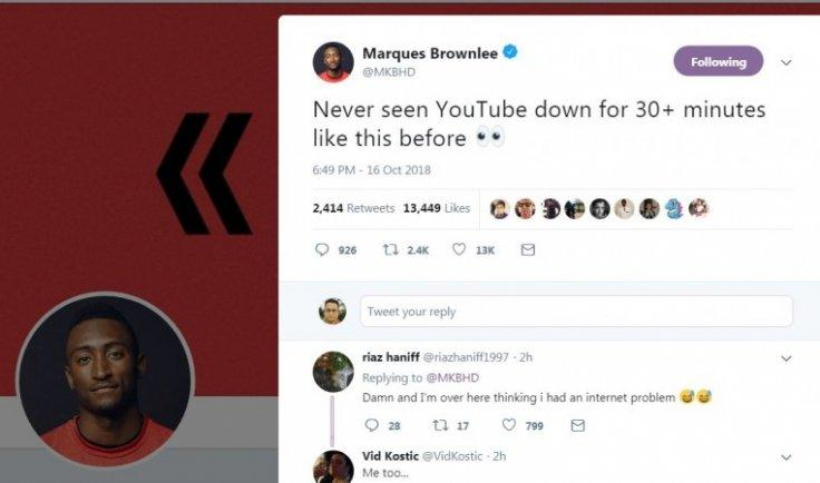 Social media platform YouTube finally back online after a long '500