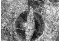 The outline of the Viking ship can clearly be seen in this image from the radar data. Image: NIKU