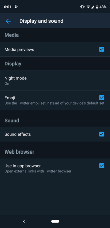 Twitter Dark themeScreenshot