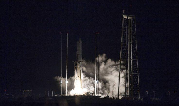 Northrop Grumman's Cygnus spacecraft launches on an Antares rocket at 4:01 a.m. EST Nov. 17, 2018, from the Virginia Mid-Atlantic Regional Spaceport's Pad-0A at NASA's Wallops Flight Facility in Virginia. Northrop Grumman's 10th contracted cargo resupply