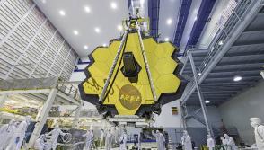 James Webb Space Telescope Mirror Seen in Full Bloom